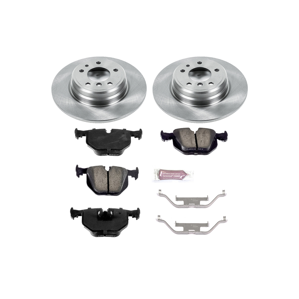 1991 BMW 850i Performance Disc Brake Pad and Rotor Kit