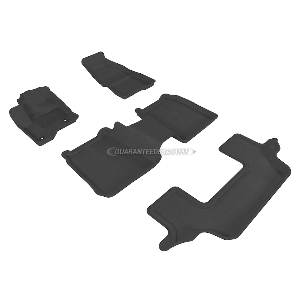 2019 Ford Flex Floor Mat Set Kagu-Black