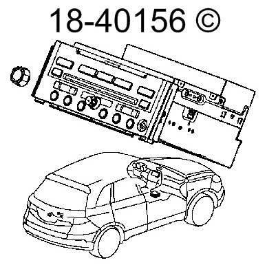 Radio or CD Player 18-40156 R