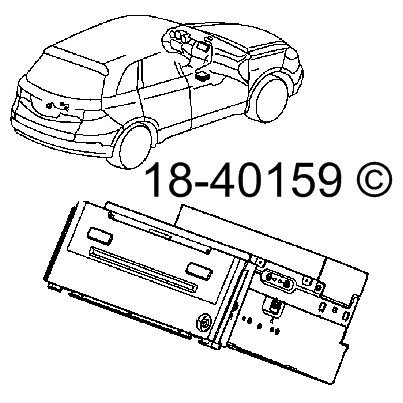 Radio or CD Player 18-40159 R