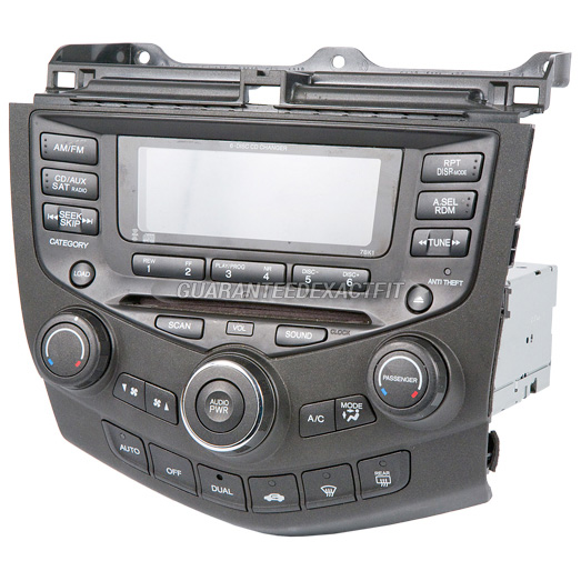 oem radio stereo for honda accord w face code 7bk0 7bk1 6. Black Bedroom Furniture Sets. Home Design Ideas