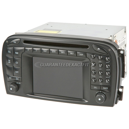 2005 mercedes benz sl600 navigation unit in dash single cd for Mercedes benz navigation cd