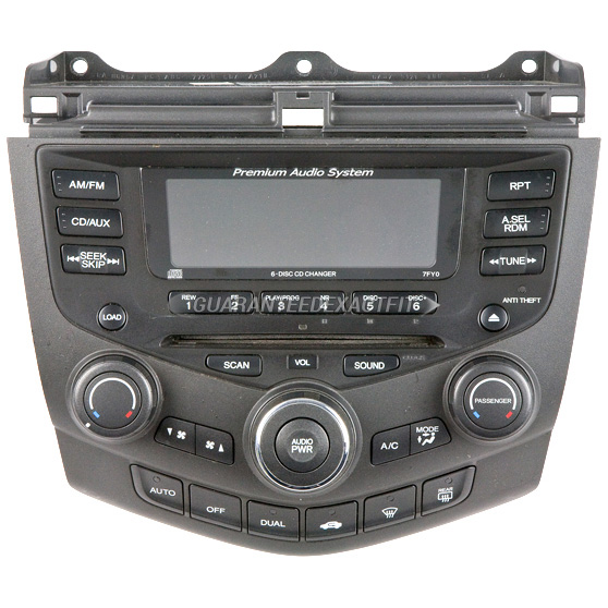 2004 honda accord radio or cd player radio with face code
