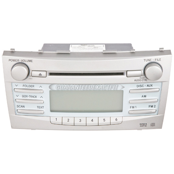 2008 toyota camry radio or cd player am fm aux mp3 single cd radio with face code 11831 11815 or. Black Bedroom Furniture Sets. Home Design Ideas
