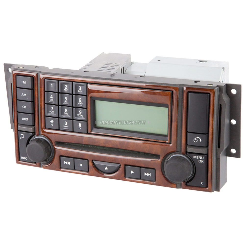 2007 land rover range rover radio or cd player radio am fm 6cd with face code 6cd 465 oem. Black Bedroom Furniture Sets. Home Design Ideas