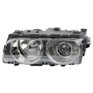Headlight Assembly Pair - Xenon without Chrome Line - iL Models