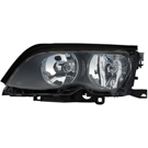 Left Driver Side - Halogen with Black Trim - i and xi Models from Prod. Date 09-01-01