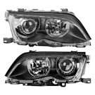 Headlight Assembly Pair - Bi-Xenon with Black Trim - i and xi Models