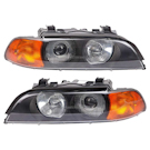 Headlight Assembly Pair - Xenon with Amber Turn Signal - All Models