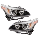 Headlight Assy Pair - Bi-Xenon without Adaptive Headlight - i and xi Models