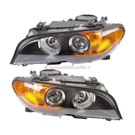 Pair - Halogen With Amber Turn Signal
