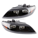 Headlight Assembly Pair - Halogen with Black Bezel - All Models
