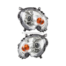Headlight Assembly Pair - Bi Xenon with Yellow Turn Indicator - All Models