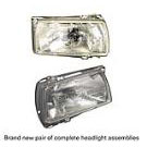 Headlight Assembly Pair - Glass with Frame - Excluding GTI Models