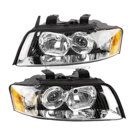 Pair of Headlight Assemblies - Halogen - Base Models with 1.8L Engine