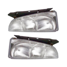 Pair of Headlight Assemblies - without Black Trim