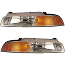 Pair of Headlight Assemblies - Smooth Surface with Improved Pattern