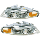 Pair of Headlight Assemblies - Coupe Models