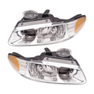 Pair of Headlight Assemblies - with Quad Headlamp