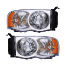 Pair of Headlight Assemblies - with Late Model Design