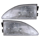Pair of Headlight Assemblies - excluding Cobra Models