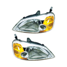 Pair of Headlight Assemblies - Sedan Models
