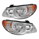 Pair of Headlight Assemblies - Sedan Models