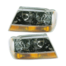 Pair of Headlight Assemblies - with Amber Park Light - Laredo and Sport Models to Prod Date 01-2002