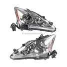 Pair of Headlight Assemblies - Halogen without Auto Leveling