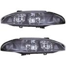 Mitsubishi Headlight Assembly Pair