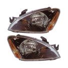 Pair of Headlight Assemblies - with Black - Sedan and Wagon Models with ABS