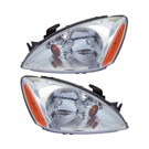Pair of Headlight Assemblies - with Chrome