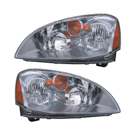 Pair of Headlight Assemblies - with HID - includes Lens and Housing