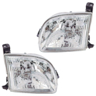 Pair of Headlight Assemblies - Regular and Access Cab Models