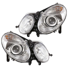 Headlight Assembly Pair - Bi-Xenon with Active Curvelight Package