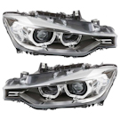 Headlight Assembly Pair- Sedan Models - Xenon Without Adaptive Lighting