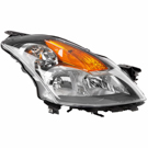 Right Passenger Side - Halogen with Grey Bezel - Sedan Models