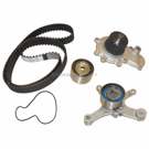 Timing Belt - Pulley and Water Pump Kit - 2.0L Engine - Converts Hydraulic To Mechanical Tensioner