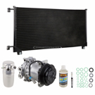 AC Compressor and Components Kits for GMC Pick-up Truck, GMC Sierra and Others, 5.7L and 6.5L Diesel - HT6 Compressor, 5.7L or 7.4L Engine - with Rear AC