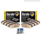 Duralo 141-1088 Brake Pad Kit - Front and Rear 1