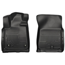 Crew Cab Pickup - Front Floor Liners - Weatherbeater Series - Black