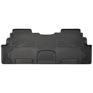 2nd Row Bucket Seats - 2nd Seat Floor Liner - Weatherbeater Series - Black