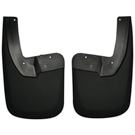 1500 - with OE Fender Flares - Rear Mud Guards - Custom Mud Guards - Black