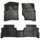 Bench Seats - Front & 2nd Seat Floor Liners - Weatherbeater Series - Black
