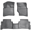 Bench Seats - Front & 2nd Seat Floor Liners - Weatherbeater Series - Grey