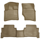 Bench Seats - Front & 2nd Seat Floor Liners - Weatherbeater Series - Tan