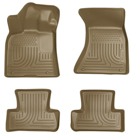 AWD - Front & 2nd Seat Floor Liners - Weatherbeater Series - Tan