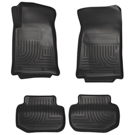 Coupe - Front & 2nd Seat Floor Liners - Weatherbeater Series - Black