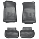 Convertible - Front & 2nd Seat Floor Liners - Weatherbeater Series - Grey