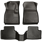 Sonic - Front & 2nd Seat Floor Liners - Weatherbeater Series - Black